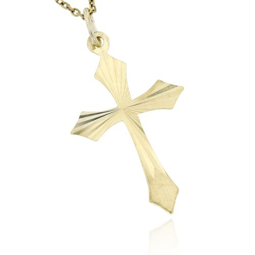 Zlatý přívěsek křížek 031ž