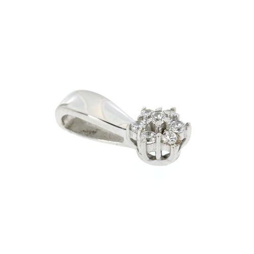 Dámský stříbrný přívěsek kytička MDD011634